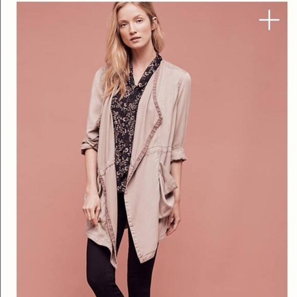 e7ea77b4f9fc Anthropologie Jackets   Blazers - Anthropologie Hei Hei Tan Khaki Trench