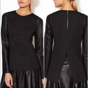 NWOT Stella & Jamie Rio leather sleeve top