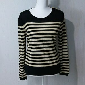 Peck & Peck Gold Striped Sweater