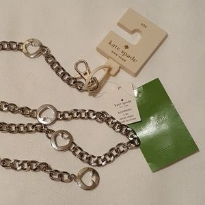 Kate Spade Saffiano Adjustable Chain Belt, S/M