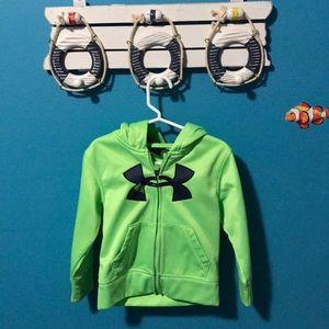 Under Armour zip down hoodie. 2T.