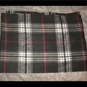Accessories - Plaid black white and red scarf