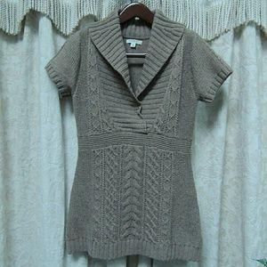Brown/tan sweater dress