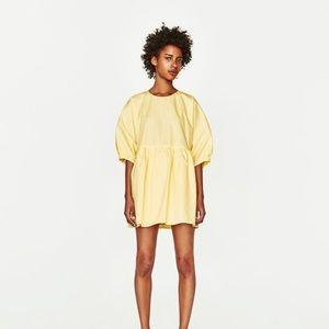 Zara Yellow Poplin Jumpsuit Romper Dress Medium