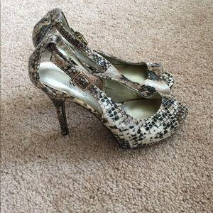 ffc8b55a03f3 Worthington Shoes - ❗  10 SALE❗️Worthington Snake Print Peep Toe Heel
