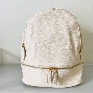Handbags - Vegan Leather Mini Backpack - Ivory White