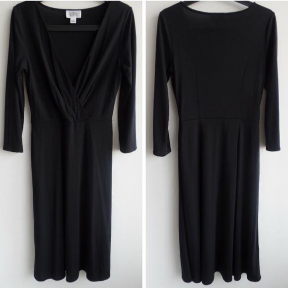 LOFT Dresses & Skirts - Ann Taylor LOFT Versatile 3/4 Sleeve Black Dress