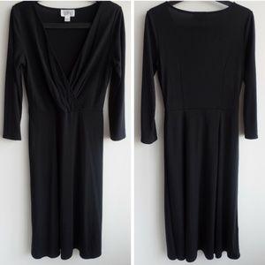 LOFT Dresses - Ann Taylor LOFT Versatile 3/4 Sleeve Black Dress