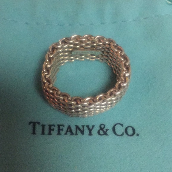 ecff9cf8987ec Tiffany & co mesh ring size 7