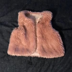 Zara pink fur vest