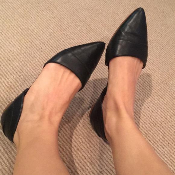 5020b29dc J. Crew Factory Shoes | J Crew Factory Black Dorsay Flats Size 7 ...