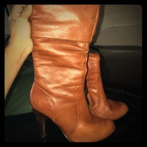 Aldo Size 6 Brown heeled Boots. Good condition!