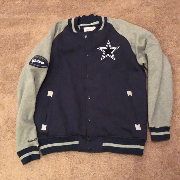 timeless design d87fb ab38a Mitchell and Ness Dallas Cowboys Throwback Jacket