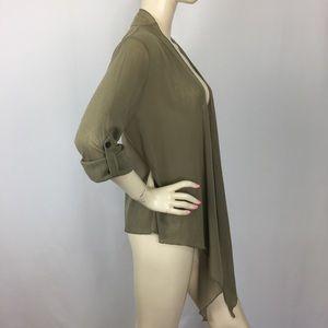 Soft Surroundings Roll-Tab Soft Cardigan Medium