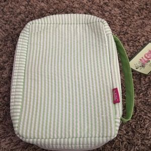 Handbags - Gingham lime green & white stripe Bible Cover