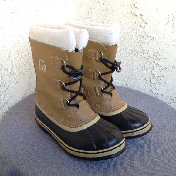 Sorel Shoes | Kids Brown Leather Rubber Duck Boots 3 | Poshmark