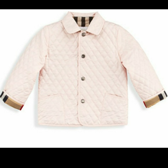 Burberry Toddler Girl's Colin Quilted Jacket NWT