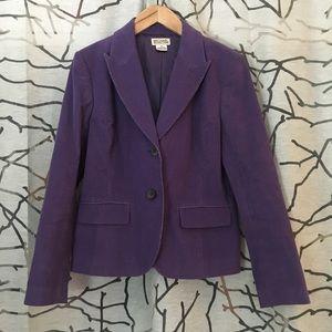 Purple Michael Kors corduroy blazer