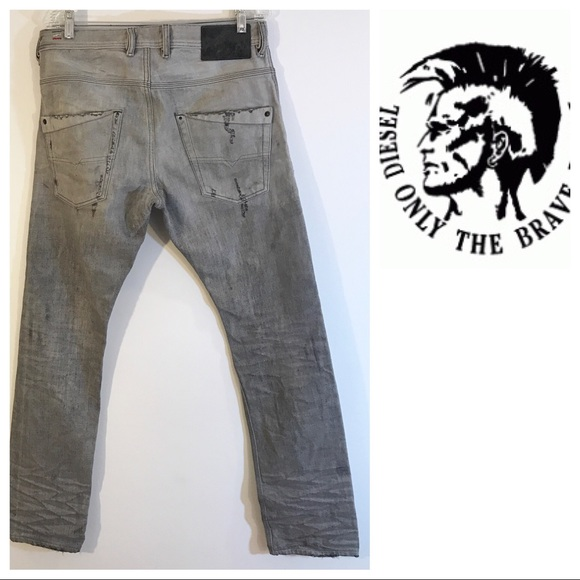 2e9f6b8f6d4 Diesel Jeans | Krolley Gray Slim Distressed 30 | Poshmark