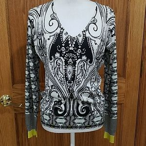 Etro Milano V-neck Silk Knit ON HOLD PENDING DRYCL