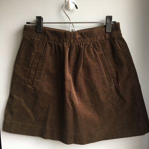 J. Crew brown corduroy skirt