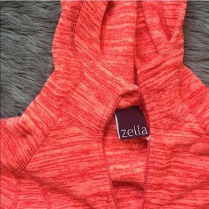 Zella Blood Orange 🍊 Space Dye Hooded Pullover