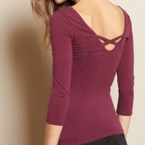 Garage Low Back Lace Up Ballerina Top