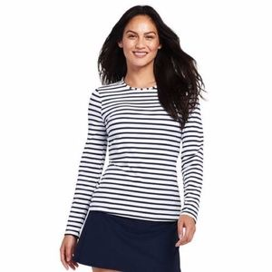 Lands End Womens Swim Tee Rash Guard