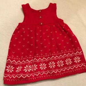 2 Carters snowflake sweater jumpers