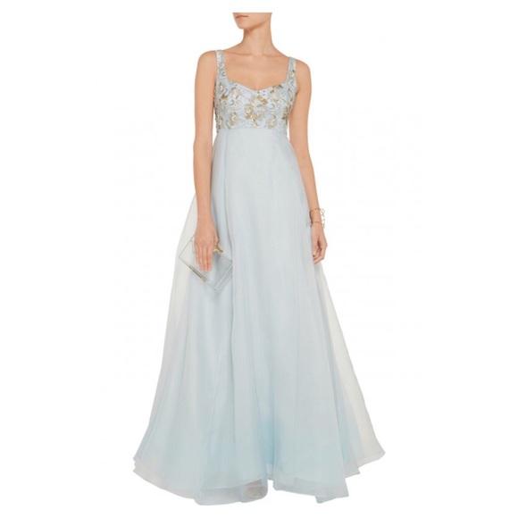 46fffdfd Marchesa Dresses | Nwt Notte Silk Sky Blue Dress Size 4 | Poshmark