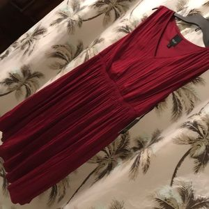 Simply Vera Vera Wang Pleated red sleeveless dress
