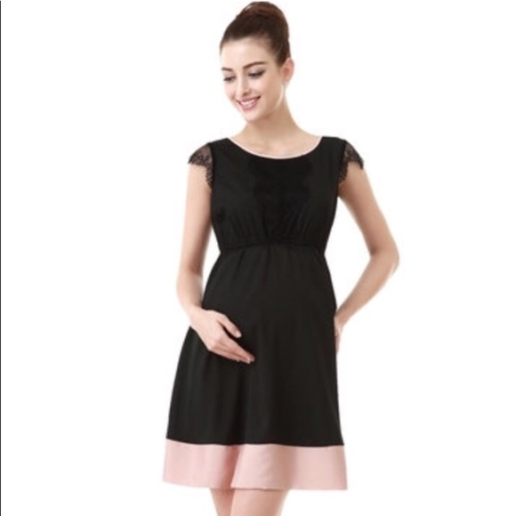d731cd60d34 Momo Maternity Black Lace Dress. M 5a24a9b26802785c1b0a4475