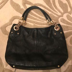 Cynthia Rowley Snakeskin Black Bag