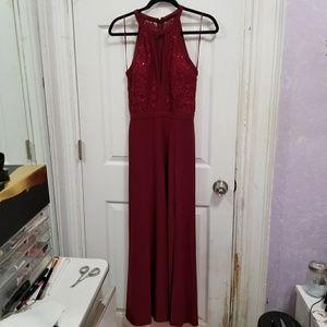 Nightway burgundy dress