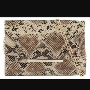 ALDO Snake print clutch