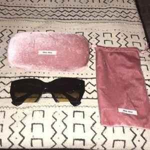 Miu miu Black Rasoir sunglasses