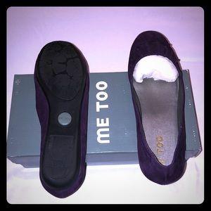 NWT ME TOO Violet Suede Shoe Sz 8.5M
