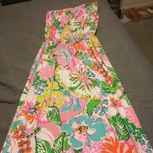 Strapless Lilly Pulitzer for Target maxi dress