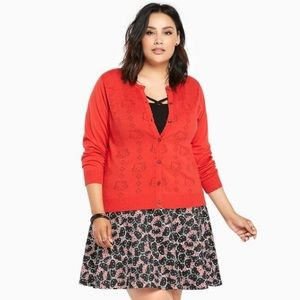 NWT Torrid Hello Kitty Button Cardigan Sweater