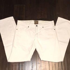 Rich & Skinny White Boyfriend Straight Leg Jeans