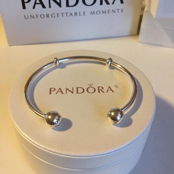 high fashion website for discount detailed images Pandora Jewelry | Open Bangle Bracelet New | Poshmark