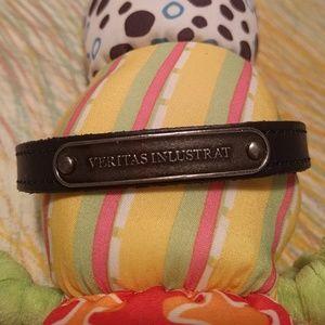 Marc Jacobs black leather bracelet
