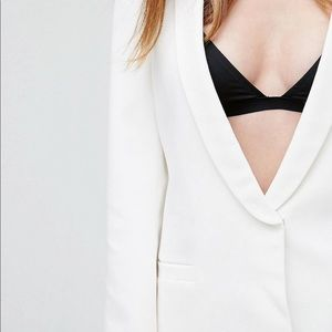 ASOS Tall white blazer with Open Back-US6/UK10