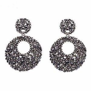 Jewelry - Round Crystal Vintage Earrings