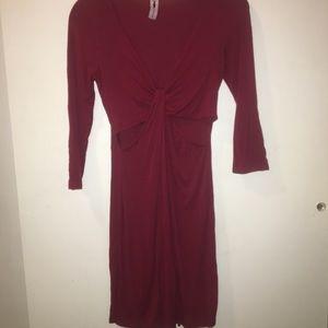 Super Sexy Burgundy Tie Dress