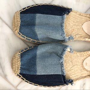 57e52a2afbf Soludos Shoes - Soludos patchwork denim lace up espadrille flats