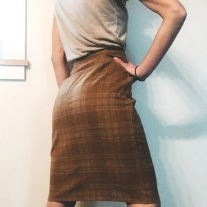 Vintage 100% wool Pendleton XS pencil skirt