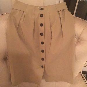Cream Prada Buttoned Skirt