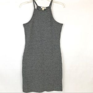 Dresses & Skirts - High neck grey ribbed bodycon dress