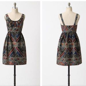 Anna Sui for Anthropologie Tesserae Dress